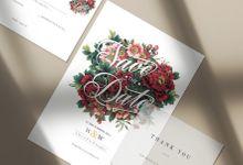 Customized wedding invitation design W&W by corakrupa