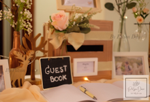 Reception guestbook table styling by Patson Decor