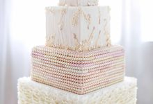 Sequin Wedding Cake by Mad About Sucre