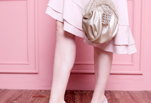 Peeptoe Brukat Baby Pink by SLIGHT SHOES OFFICIAL SHOP