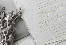 Beauty in imperfection by Pensée invitation & stationery