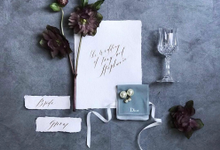 Modern calligraphy by Pensée invitation & stationery
