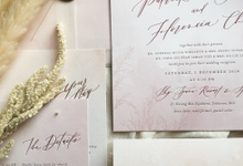 Dusty mauve with pampas grass by Pensée invitation & stationery