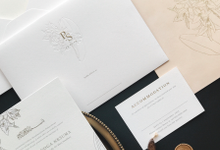 Elegant orchid invitation by Pensée invitation & stationery