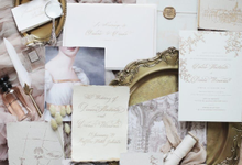 Chateau de chantilly vintage classic invitation by Pensée invitation & stationery