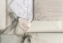 Dreamy deckle edge by Pensée invitation & stationery