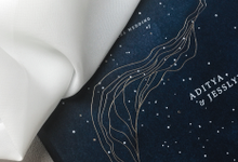 Starry night  by Pensée invitation & stationery