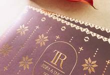 Riska & Tara by Peony and Brides Invitation