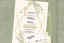 Kirstin & Kevin by Petite Chérie Invitation