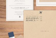 Jonathan & Jessica by Petite Chérie Invitation