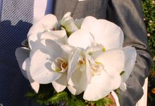 wedding with Phalenopsis by By alexia