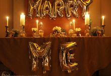 Harris & Silvia Proposal Day Decoration by Phalosa Event Decoration & Table Setting