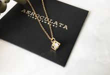 Mrs A - Custom Fine Gold Necklace by AEROCULATA