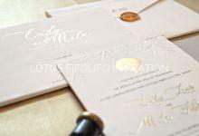 Endy & Mila by Lotus Fifolifo Invitation