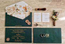 David & Meyli Wedding by Lotus Fifolifo Invitation