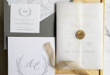 Minimalist Grey by Trouvaille Invitation