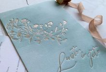 Dreamy Mint Watercolor by Trouvaille Invitation
