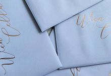 Blue Marble by Trouvaille Invitation