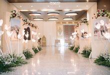 Foyer Decoration Inspiration for New Normal Wedding by Skenoo Hall Emporium Pluit by IKK Wedding