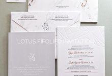 Yoga & Della by Lotus Fifolifo Invitation