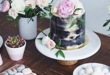 Marble Pink and Black by The Dessert Party