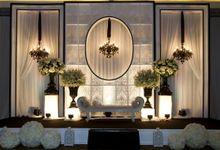Black & White Perfection by MawarPrada Wedding Decoration