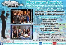 Photoman walking Photobooth Roving photographer by Twinkle Prints
