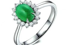 Tiaria ED012 Emerald and Diamond Engagement Ring Perhiasan Cincin Tunangan Emas Batu Zamrud dan Berlian by TIARIA