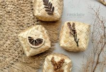 Souvenir Kopi Coffee Wedding Favors Bamboo Box by Rusticlatte