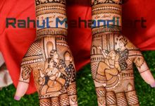 Modern Bridal Design by Rahul Mehandi Art Agra