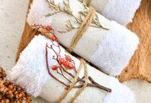 Souvenir Handuk Towel Favors Boho Rustic by Rusticlatte