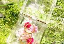 NN Acrylic Wedding Ring Box by Coruscant.id