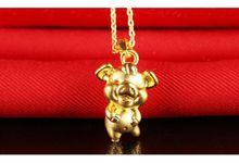 Tiaria Zodiac Pig Gold Pendant Perhiasan Liontin Emas by TIARIA