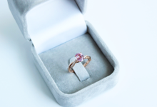 Natural pink sapphire engagement ring by The Diamond Consultants