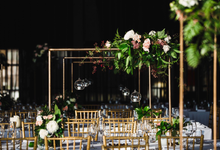 A modern whimsical wedding for VP&TP by Pink Stardust Events