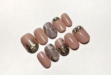 Wedding Nails by PONINONI NAILS