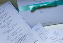 Ishak & Minarni 60th Wedding Anniversary Invitation by Sweet Memoire