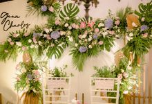 The Wedding of Gina & Charlos di The Joglo Garden by Decor Everywhere