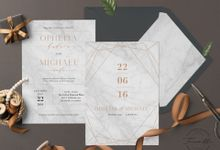 Geometric Gold Marble by Trouvaille Invitation