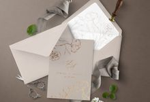 Romantic Beige by Trouvaille Invitation