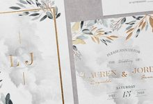 Silver Botanical by Trouvaille Invitation