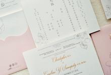 Wedding Invitation of Christopher & Caroline by Prima Card
