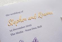 Wedding Invitation of Stephen & Roanna by Prima Card