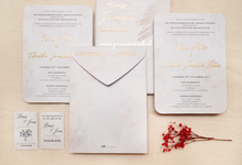 Wedding Invitation of Hans & Jeanette by Prima Card