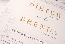 Wedding Invitation of Dieter & Brenda by Prima Card