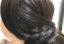 Simple & party hair do by Priscillacintya Makeup Artist