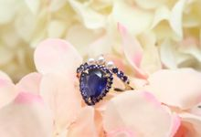 Sapphire Pearl Ring by GIOIA FINE JEWELLERY