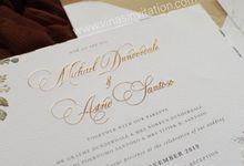 Michael & Astrid by Vinas Invitation
