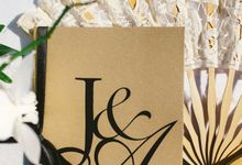 J&A Wedding Stationary Design by CM Creative Concepts