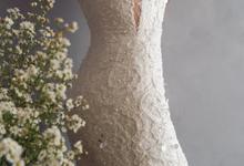 Semi Mermaid Wedding Gown  by Putri Cindana Couture